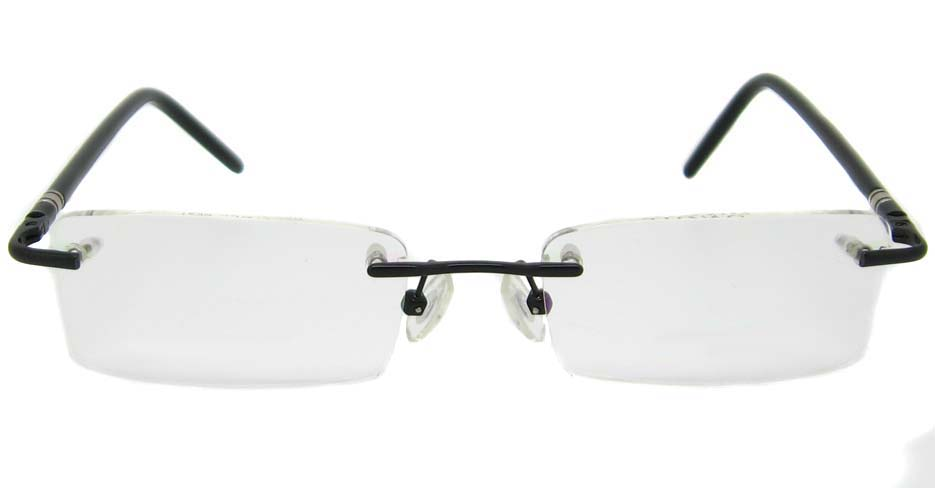 Black Metal rimless Rectangular frame YJ-J1290-HS