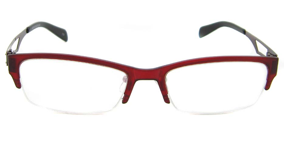 Red Blend oval Glasses frame TD-JC8115-C3