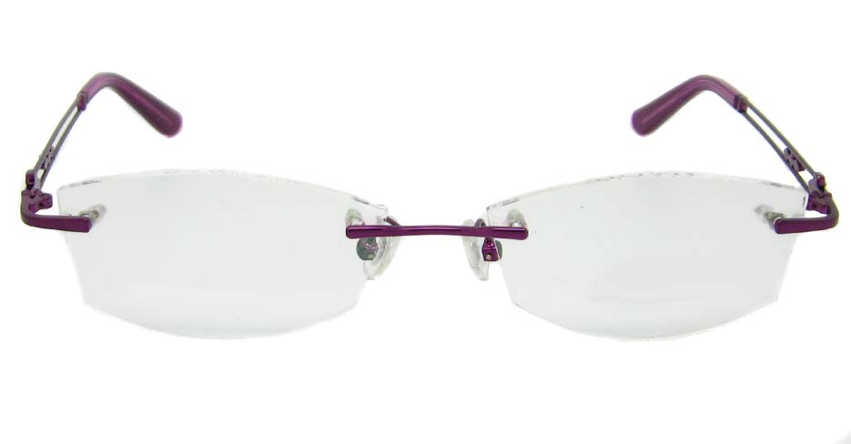 Purple Metal rimless oval frame YJ-J8856-Z