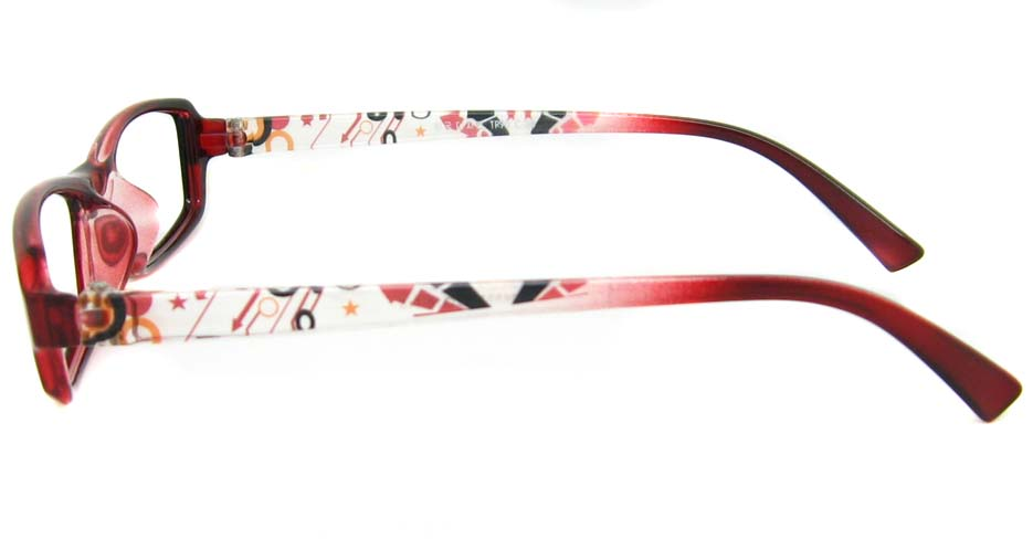 Red TR90 rectangular frame YJ-F26893-H