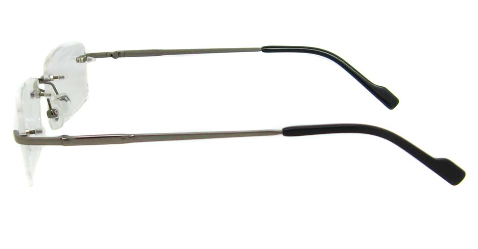 Grey Metal rimless Rectangular frame YJ-J1090-Q