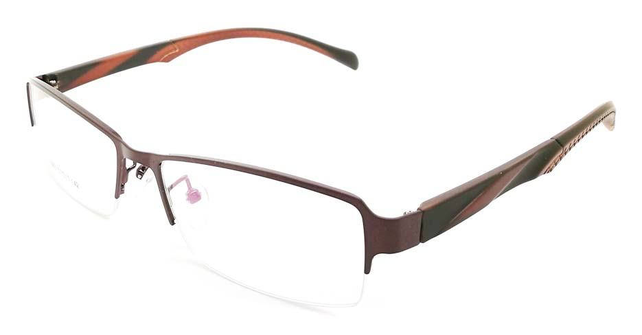 Brown blend Rectangular glasses frame JX-3063-C9