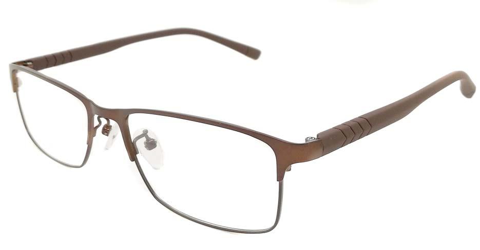 Brown blend  Rectangular  glasss frame P8021-c3