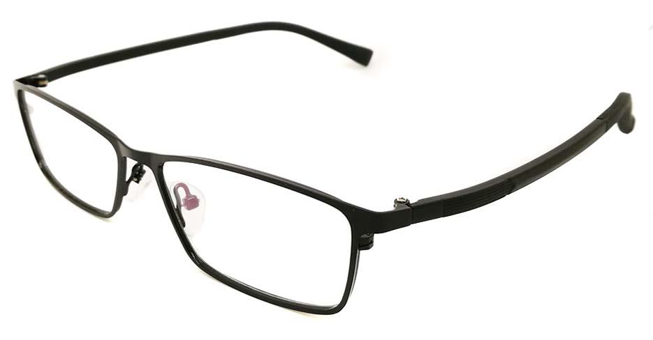 Blend black oval glasses frame JX-8587-C4