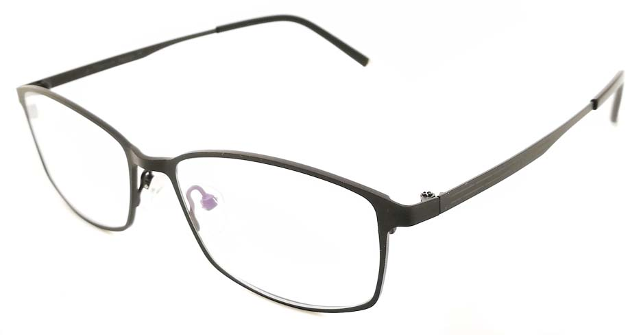Black oval Titanium glasses