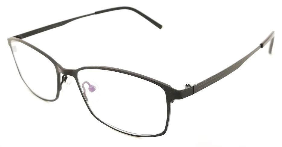 Black  oval  Titanium glasses frame JX-5508-C4