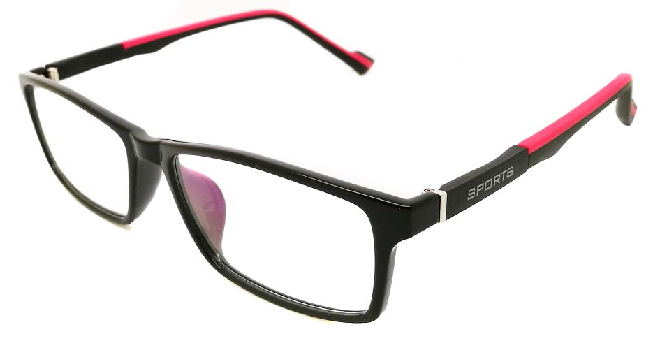 Black wih red oval TR sports glasses frame JX-82023-C24