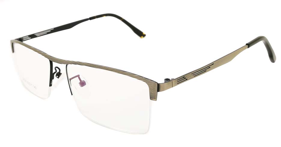Grey Rectangular blend glasses frame JX-32032-C14