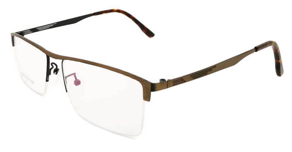 Brown Rectangular blend glasses frame JX-32032-C19