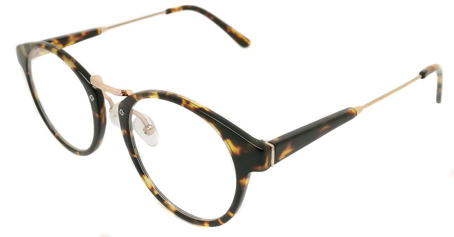 Blend Tortoise glasses round glasses frame PC-6102-C302
