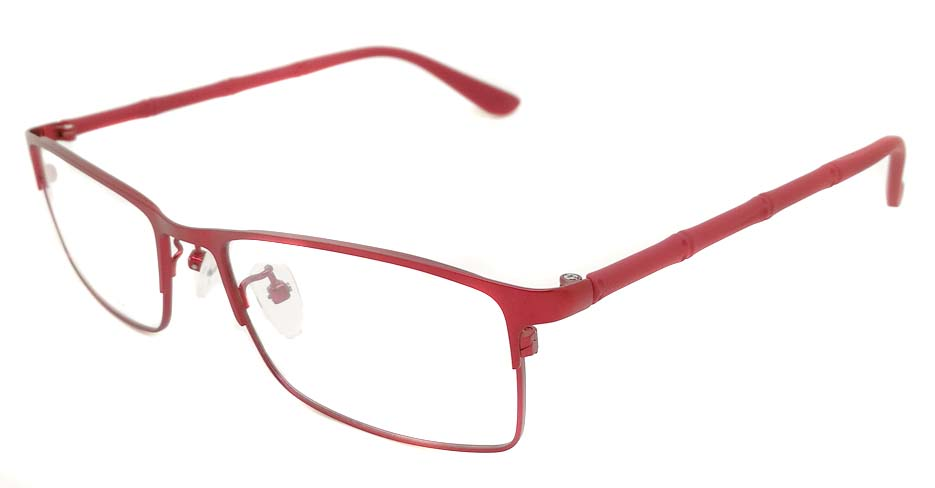 Red Rectangular Blend glasss frame P8026-c5