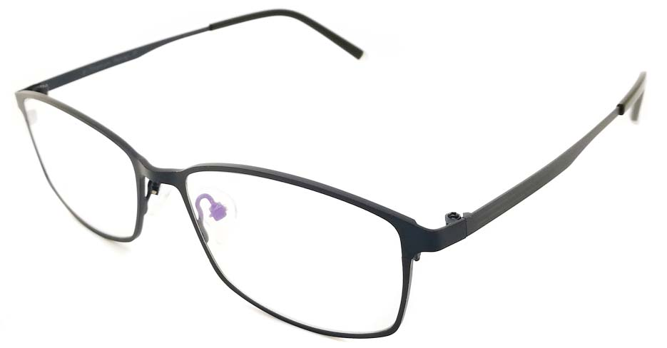 Blue oval Titanium glasses frame JX-5508-C5
