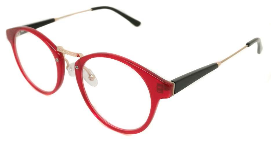 Blend red round blend glasses frame PC-6102-C306