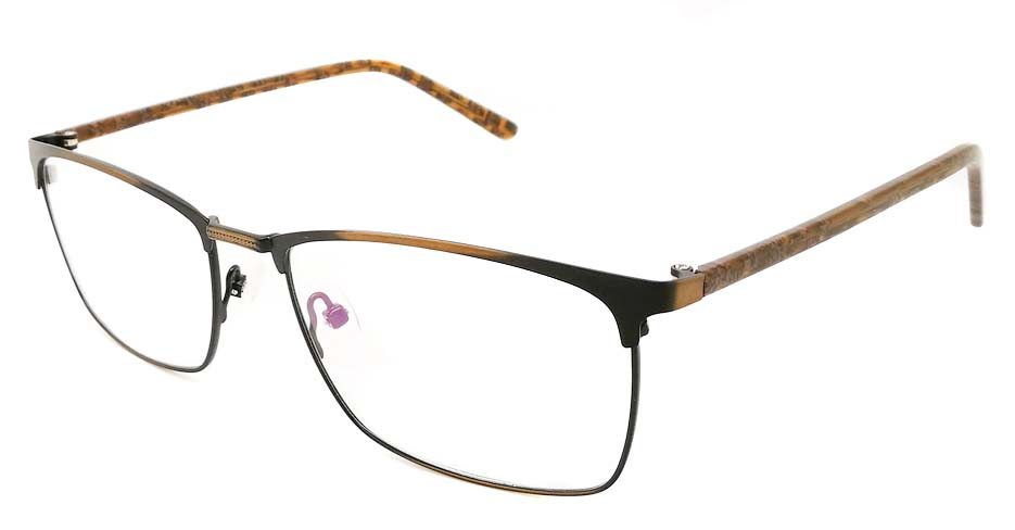 Black with Brown Rectangular blend glasses frame JX-32061-C19