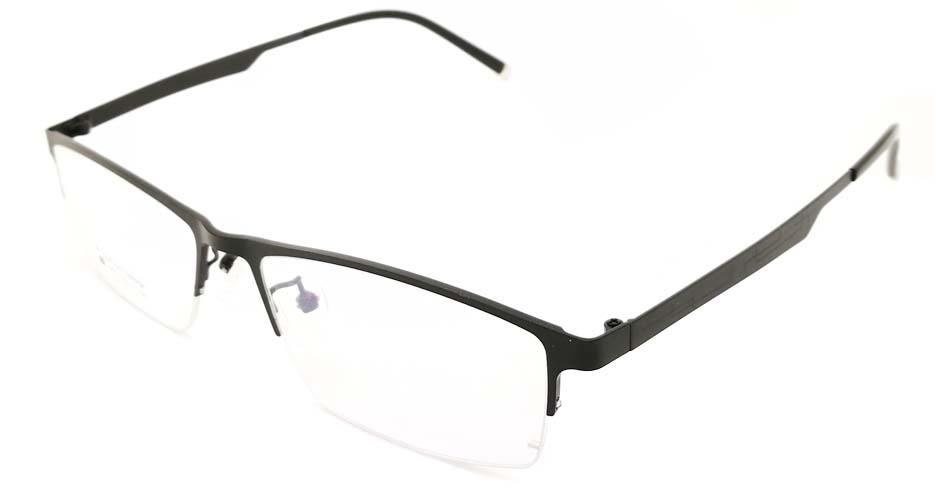 Black oval  Titanium glasses frame JX-5512-C4