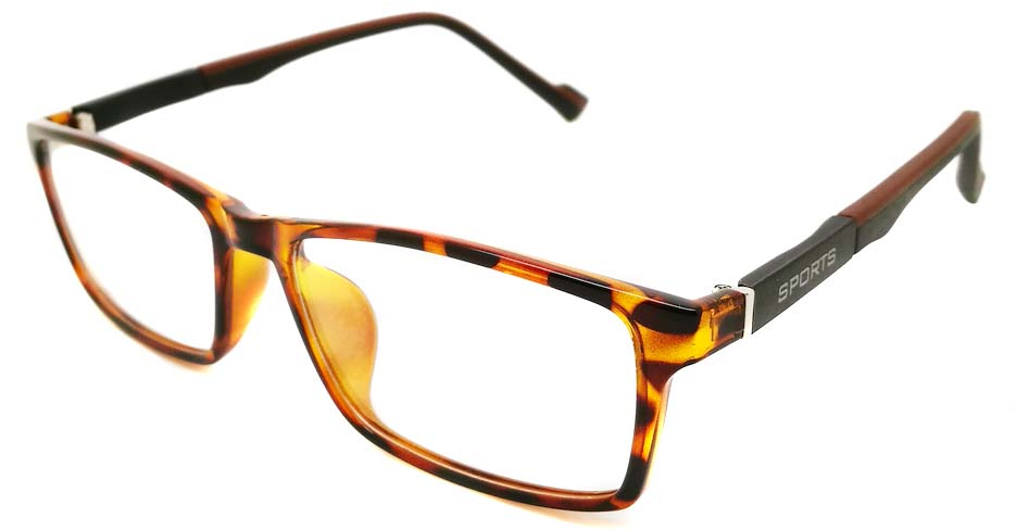 Tortoise oval TR sports glasses frame JX-82023-C10