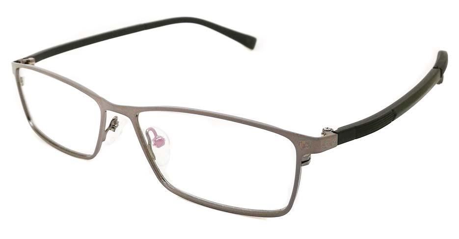grey black oval glasses frame JX-8587-C3