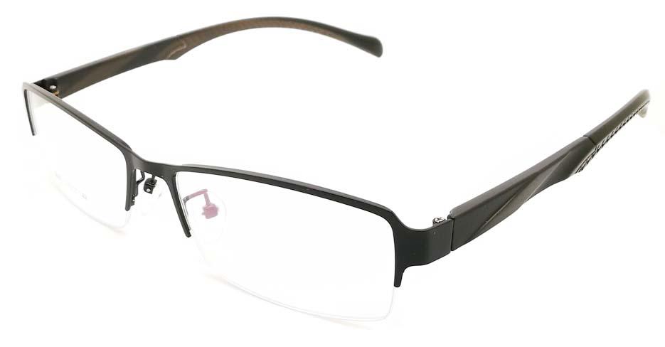 Black blend Rectangular glasses frame JX-3063-C4