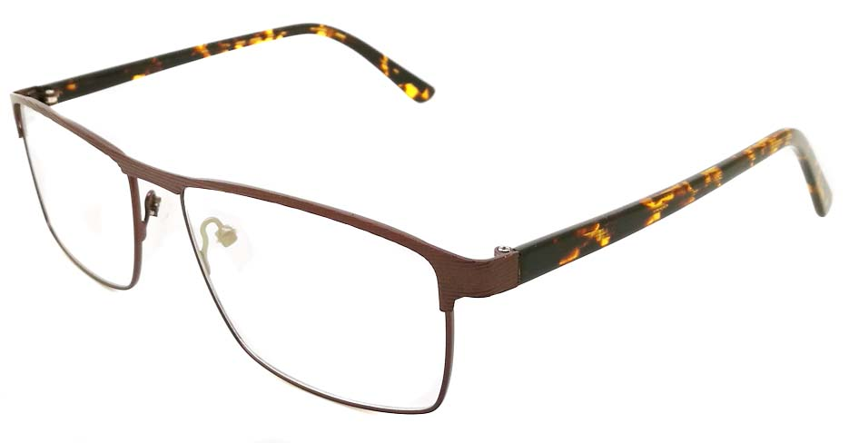 Tortoise Rectangular blend glasses frame JX-32062-C9