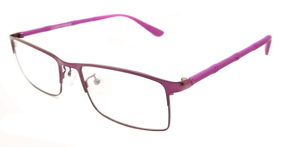 Purple Rectangular Blend glasss frame P8026-c8