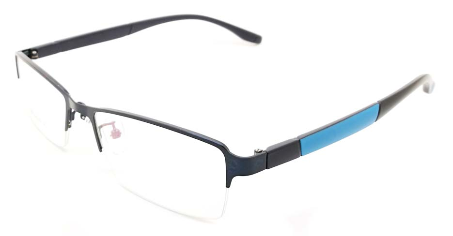 Blue blend Rectangular glasses frame JX-3038-C5