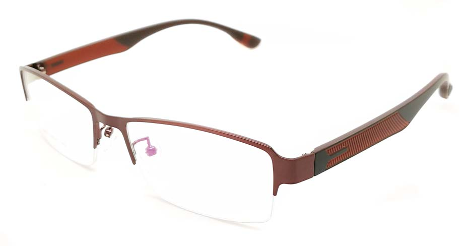 Grey blend Rectangular glasses frame JX-3067-C9