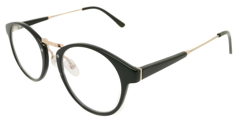 Blend black glasses round glasses frame PC-6102-C301