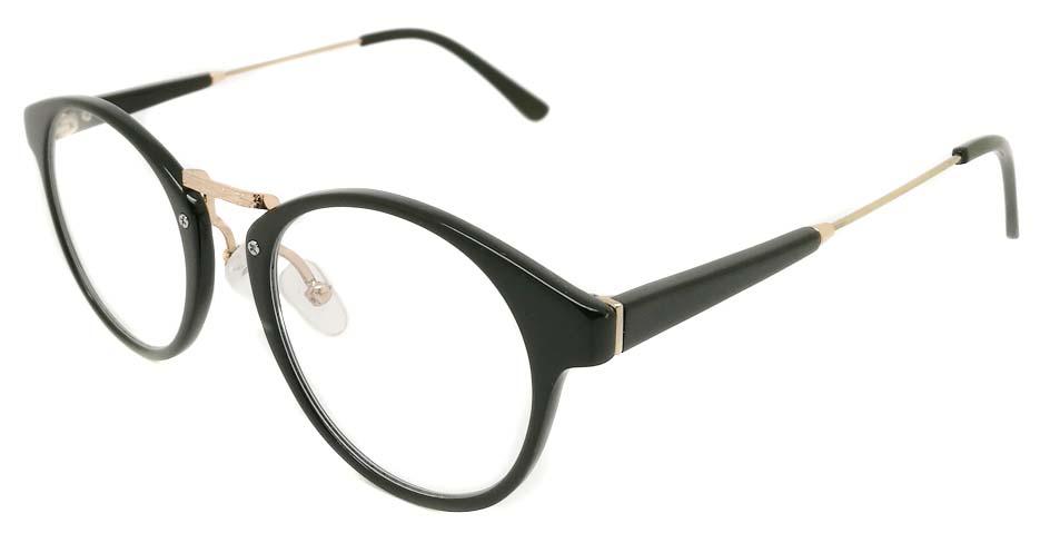 Blend black glasses round glasses frame PC-6102-C301