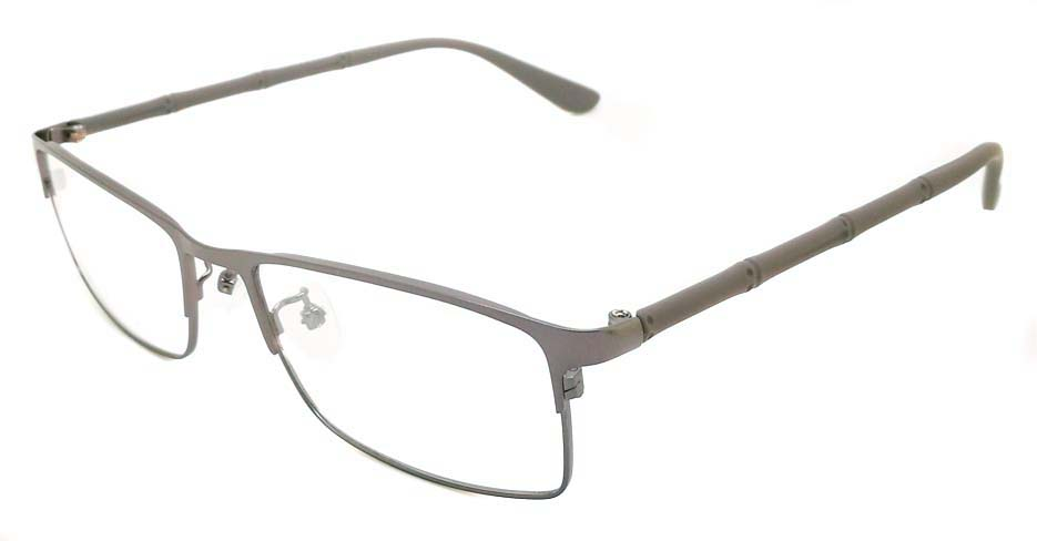 grey oval Titanium glasses