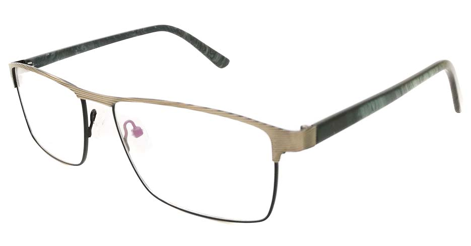 grey with black Rectangular blend glasses frame JX-32062-C14
