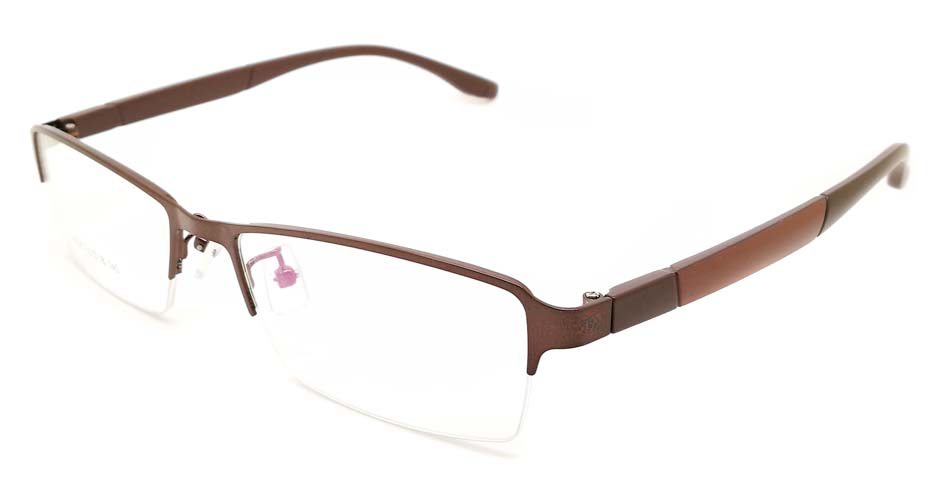 Grey blend Rectangular glasses frame JX-3038-C9