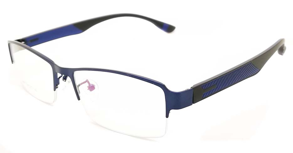 Blue blend Rectangular glasses frame JX-3067-C5