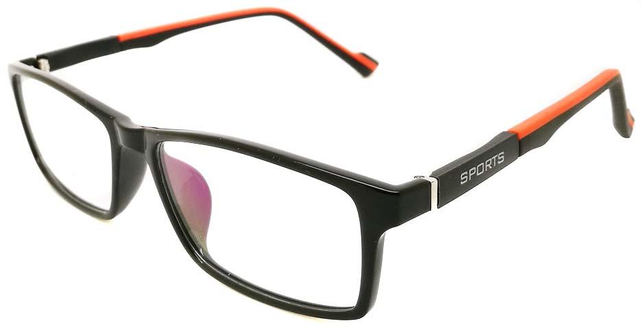 Black with Orange oval TR sports glasses frame JX-82023-C14