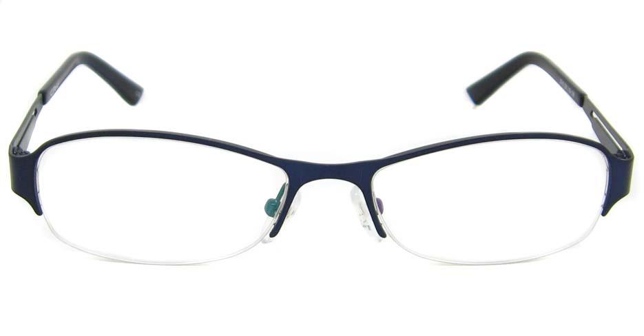 Blue metal oval glasses frame TD-CR2015-L
