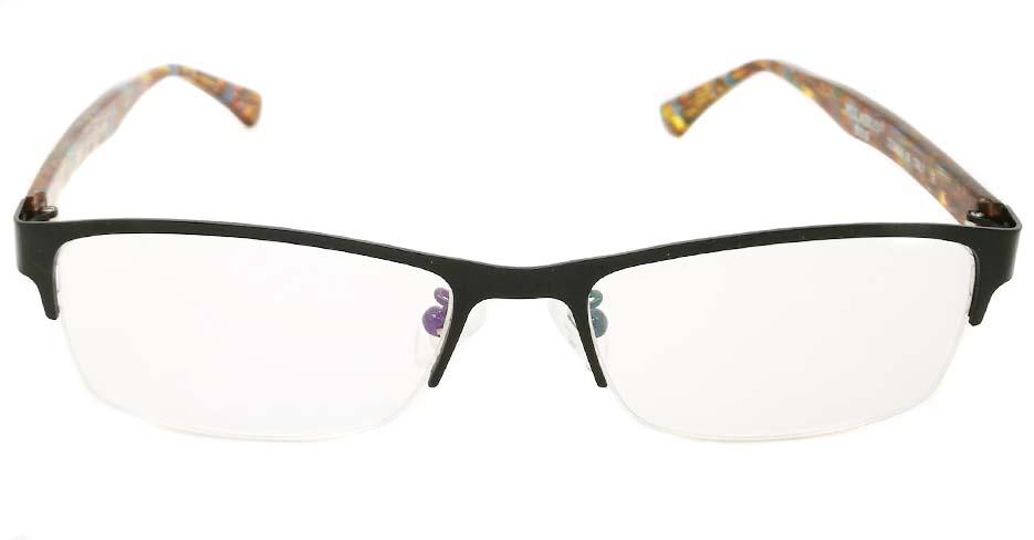 blend black with brown oval glasses frame JX-L007-C4