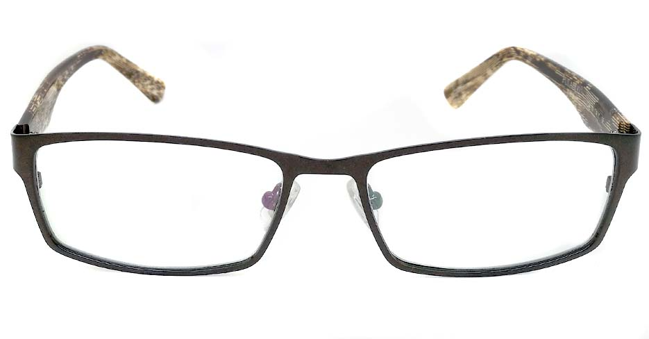 blend grey oval glasses frame JX-L005-C9