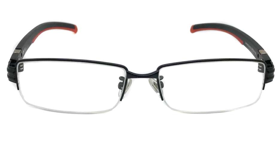 black with red blend oval sport glasses frame LT-G023J3-C1