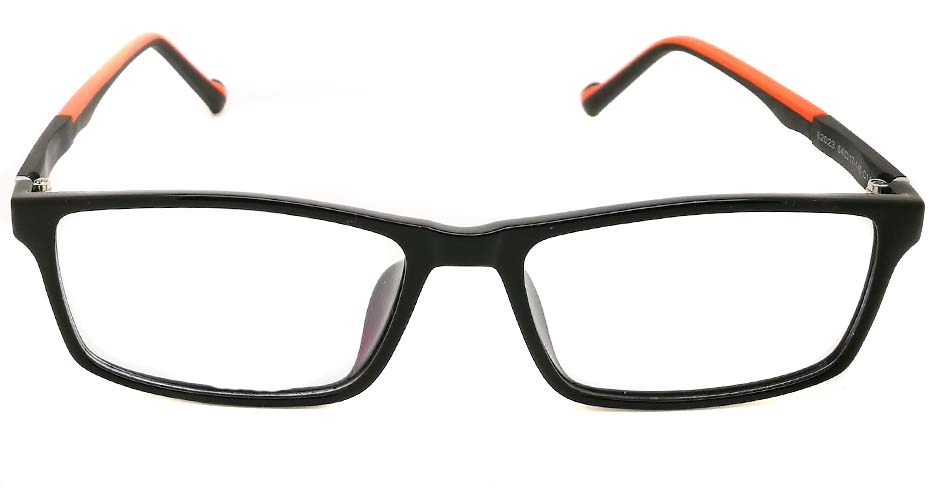 Black with Orange oval TR sports glasses frame JX-82023-C14