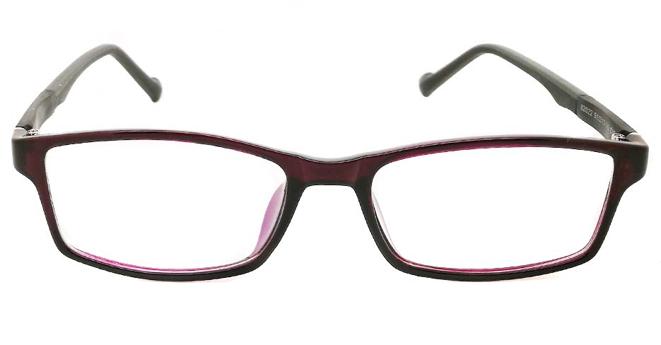 Black with purple oval TR sports glasses frame JX-82022-C6