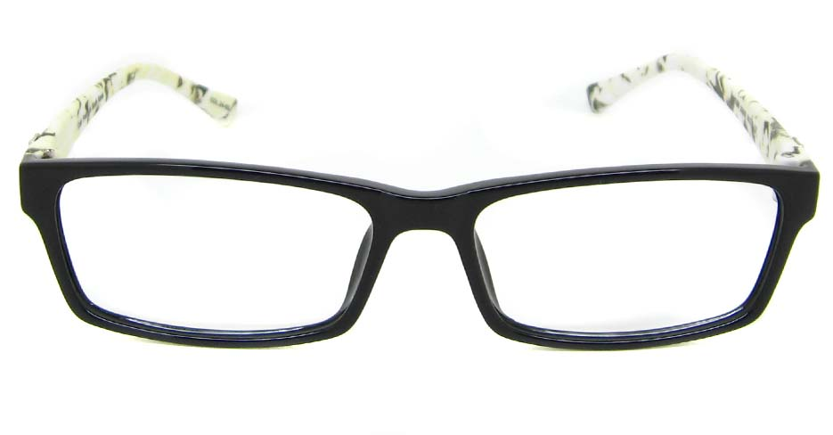 Black with white  TR90 rectangular frame YJ-JT2088-C24