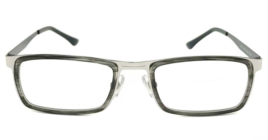 black with silver blend Rectangular glasses frame SM-DUB2015-C07-4