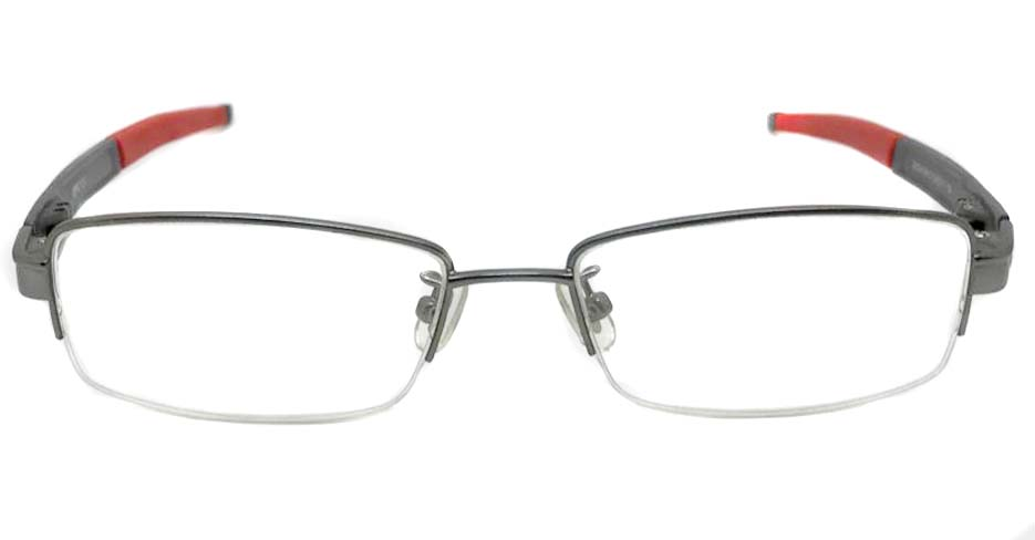 grey with red blend oval sport glasses frame LT-A184-C2