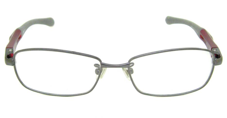 grey with wine oval sport glasses frame LT-G072-C2