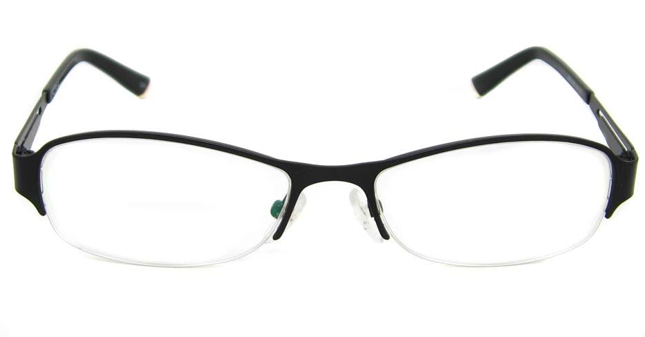Black  metal oval glasses frame TD-CR2015-HS