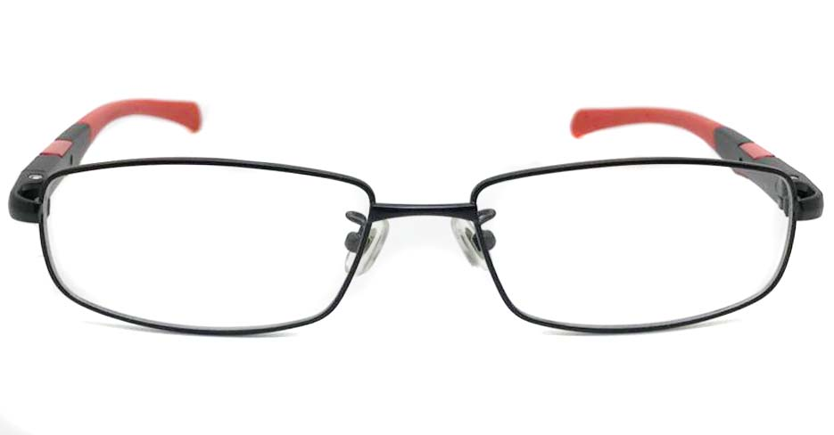 black with red blend sports Rectangular glasses frame LT-KB-HH