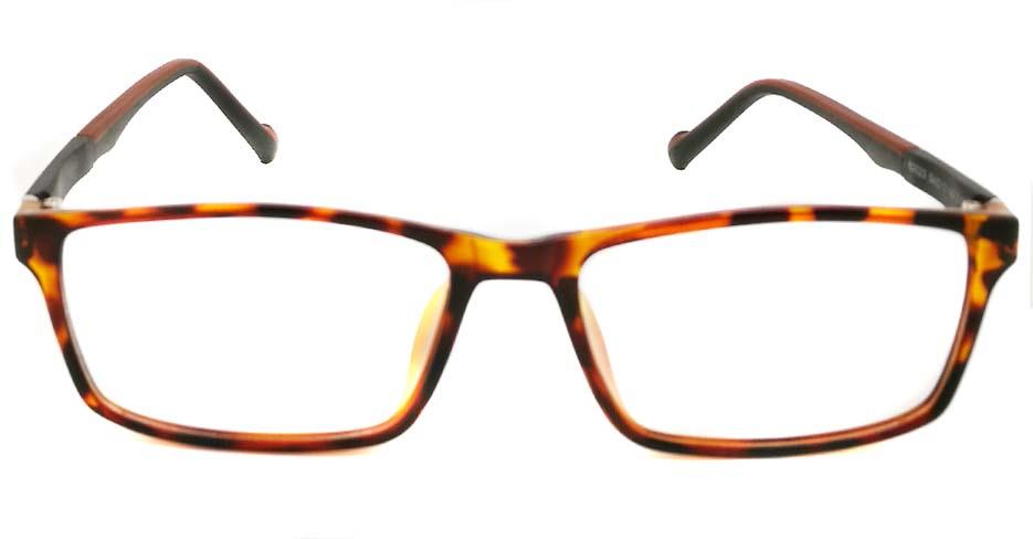 Tortoise oval TR sports glasses frame JX-82023-C10