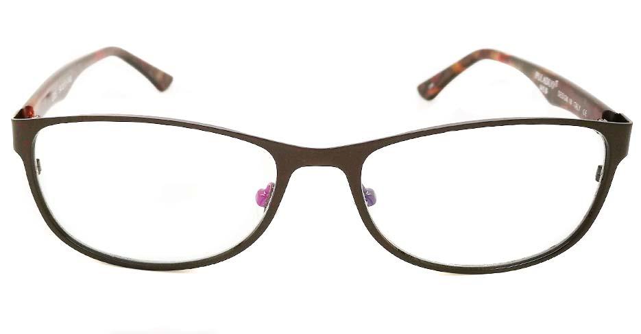 blend grey oval glasses frame JX-L012-C9