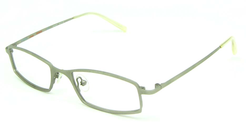 white metal rectangular  glasses frame HL-M2087-09