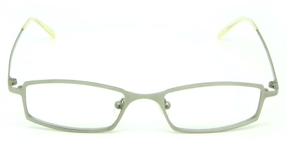 white metal rectangular  glasses frame HL-M2087-09