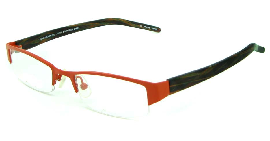 red blend rectangular glasses frame   HL-DS2057-61